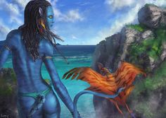 Avatar by Anocha Blue Avatar, Avatar Fan Art, Avatar Movie, Dances With Wolves, Disney Quotes, Character Art, Disney Characters, Fictional Characters, Sci Fi