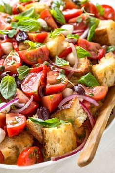 Really nice recipes. Every hour. Salad Bar, Soup And Salad, Vegetarian Recipes, Cooking Recipes, Healthy Recipes, Greek Recipes, Italian Recipes, Heirloom Tomato Recipes, Heirloom Tomatoes