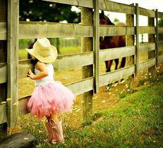cow boy hat + tutu+ rain boots = adorable!
