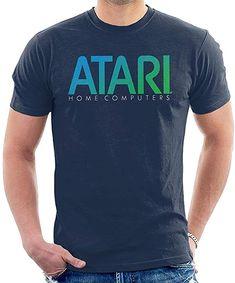 Blue and green Atari logo tee shirt for men. Computer Logo, Home Computer, Bad Video, Video Game Industry, Tee Shirts, Tees, Atari Logo, Retro, Mens Tops
