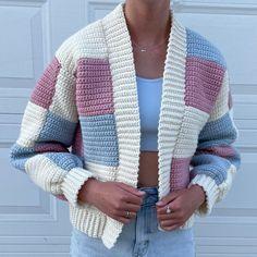 Crochet Cow, Crochet Lovey, Kawaii Crochet, Cute Crochet, Crochet Crafts, Crochet Cardigan, Granny Square Crochet Pattern, Afghan Crochet Patterns, Yarn Sizes