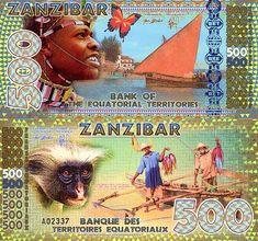 500 Zanzibar  UNC Banknote