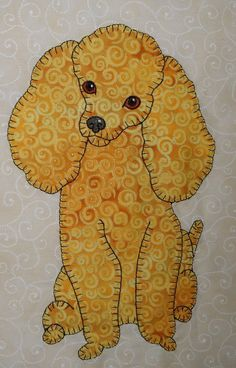 Anna's Awesome Appliques: I jus had to share the Toy Poodles