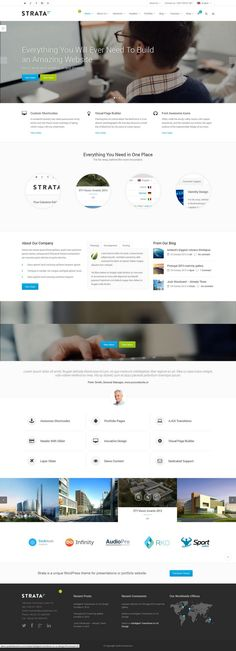 Strata Responsive Multi-Purpose #WordPress Theme http://www.themesandmods.com/premium-wordpress-themes/strata-2/