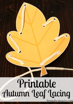 Toddlers and preschoolers will love practicing their fine motor skills with these fun Fall printable lacing cards. Fall Preschool Activities, Fine Motor Activities For Kids, Kindergarten Crafts, Preschool At Home, Toddler Preschool, Preschool Crafts, Toddler Activities, Preschool Plans, Toddler Fun