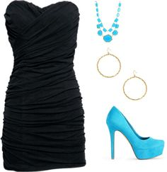 """LBD"" by sara-ainsworth on Polyvore - Love this look, I wish I had money and somewhere to go so that I could wear it!"