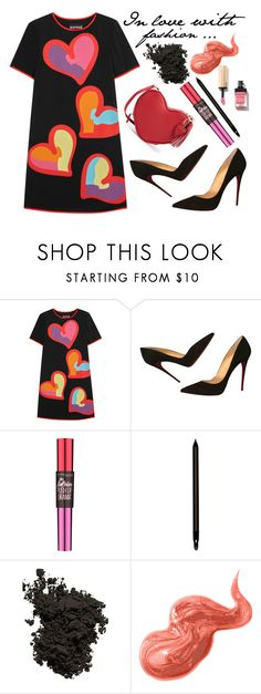 """""""NYFW - A Fashion Love Affair"""" by latoyacl ❤ liked on Polyvore featuring Boutique Moschino, Christian Louboutin, Maybelline, Armani Beauty, Chantecaille and Bobbi Brown Cosmetics"""