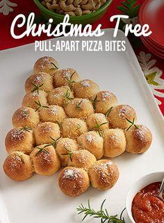 Christmas Tree Pull-Apart Pizza Bites