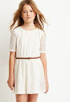 Embroidered Overlay Dress (Kids) | Forever 21 girls | #forever21kids
