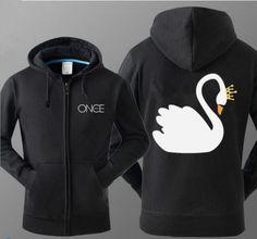 Once Upon a Time hoodie with zipper for men Captain swan fleece sweatshirt
