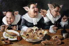 "Sin título ""Vomitorium."" 2011. - 100cm x 150cm oleo/tela - Artista: José Luis López Galván"