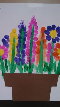 Look what your kiddos fingerprints can create! Consider this arts and craft idea for a Mother's Day gift!
