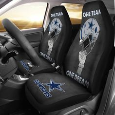 One Team One Dream Cowboys Football Team Car Seat Covers Gear Wanta Dallas Cowboys Room, Dallas Cowboys Crafts, Dallas Cowboys Outfits, Dallas Cowboys Pictures, Dallas Cowboys Women, Dalls Cowboys, Nightmare Before Christmas Wallet, Cowboy Shoes, Cowboy Nails