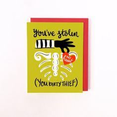Vous avez volé ma carte de coeur par littlelow sur Etsy, $4.50
