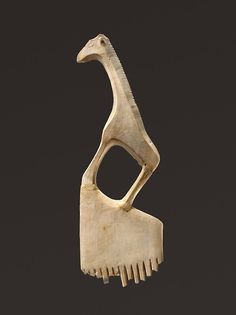Ivory comb with a giraffe. Egypt; Predynastic, Late Naqada l–Naqada II. ca. 3900–3500 B.C. (via The Metropolitan Museum of Art)