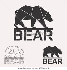 Arctic bear geometric lines silhouette isolated on white background vintage vector design element illustration set - Backgrounds Geometric Bear, Geometric Lines, Vintage Style Wallpaper, Bear Vector, Bear Illustration, Bear Logo, Photo Logo, Bear Art, Tatoo
