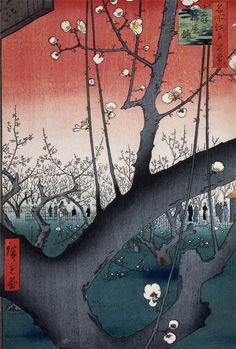 The Plum Garden in Kameido - Utagawa Hiroshige 歌川 広重