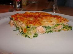 Lachs-Lasagne mit Spinat, ein leckeres Rezept mit Bild aus der Kategorie Fisch. 896 Bewertungen: Ø 4,5. Tags: Auflauf, Fisch, Gemüse, Hauptspeise, Nudeln, Pasta