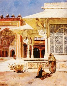 The Marble Tomb At Fatehpur Sikri-Edwin Lord Weeks