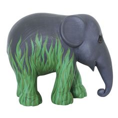 Elephant Parade Swampy Jane Elephant Ornament: Designed by Jacques d'Ancona, the Zebrolifant Louisa Elephant featured in the Emmen 2010 Parade. All Elephant Parade replica elephants are part of an exclusive limited edition series and therefore are produced and available for a limited time only. Each elephant will be delivered with a hologram of authenticity as well as a certificate listing the design name, artist, production number and series, year, and parade city. All replica elephants are…