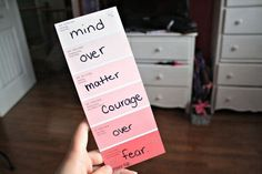 mind over matter, courage over fear. ♡