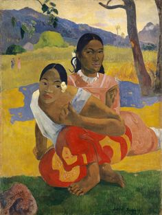 "igormag: "" Paul Gauguin (1848–1903), Nafea Faaipoipo / When Will You Marry?, 1892. oil on canvas, 101 × 77 cm """