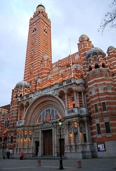 Westminster Cathedral in London is the mother church of the Catholic community in England and Wales and the Metropolitan Church and Cathedral of the Archbishop of Westminster.