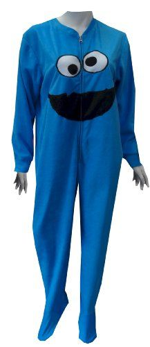Save $15.00 on Sesame Street Cookie Monster Fleece Footie Pajamas for women; only $35.00