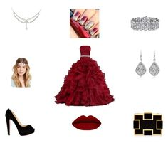 """""""Ready for PROM"""" by jalayawhite ❤ liked on Polyvore featuring Christian Louboutin, Sondra Roberts, Forever 21, Palm Beach Jewelry, women's clothing, women's fashion, women, female, woman and misses"""