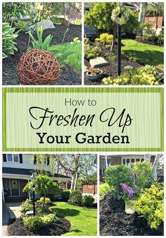 Outdoor Garden Decor And How To Freshen Up Your Perennial Garden For  Spring! | My