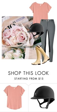 """""""a pink peach spring"""" by stylemyride ❤ liked on Polyvore featuring H&M"""