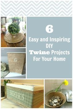 Use twine from the dollar store to update the look of things around your house and make beautiful crafts from scratch too!