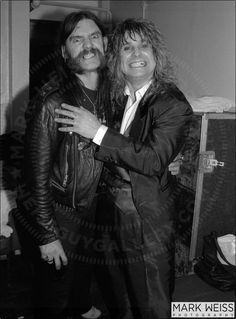 "fuckyeahmotorhead: ""Lemmy and Ozzy :') """