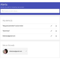 Google Alerts  Even if you don't suspect that anyone is targeting you in a negative SEO campaign, you should still have some basic reputation monitoring in place. Google Alerts will email you or update an RSS feed each time it finds brand mentions you are monitoring in search results.