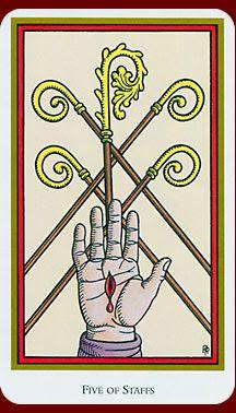 Five of Wands - Tarot of the Saints