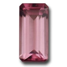 Pink Tourmaline - A stunning long emerald cut, full of life and sparkle, flawless, wonderful bright pink color and well cut. A superb Pink Tourmaline. 1.3 carats