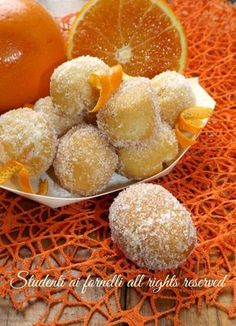 Sweet Recipes, Snack Recipes, Cooking Recipes, Snacks, Italian Desserts, Italian Recipes, Beignets, Carnival Food, Sweets Cake