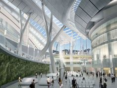 Express Rail Link West Kowloon Terminus – Spectacular Underground High-Speed Rail Station from Hong Kong to Beijing