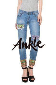 Primavera 2016 Desigual Jeans Ethnic Ankle