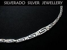 Greek Eternity Key Meander Design Gratuated by SilveradoJewellery, €35.00