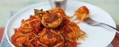 Spaghetti with homemade turkey meatballs