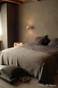 A dark bedroom helps with your sleep. Love these browns by Pure Original Cozy Bedroom, Trendy Bedroom, Dream Bedroom, Bedroom Decor, Master Bedroom, Taupe Bedroom, Bedroom Ideas, Bedroom Styles, Brown Interior