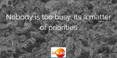 Nobody is too busy, its a matter of priorities  #quotes #productivity Priorities Quotes, Free Tips, Decision Making, Helping People, Productivity, Life Quotes, Action, Goals, Motivation