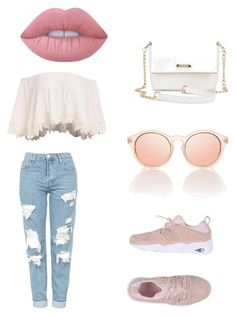 """""""Untitled #1"""" by fiona2552 ❤ liked on Polyvore featuring Topshop, Puma and Lime Crime"""