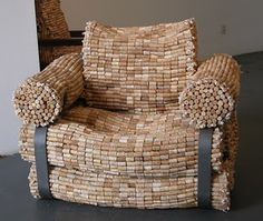 Cork Sofa Seat-I'll never tell if I have enough corks for this!