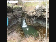 Winter Cliff Jumping at Rockmill Falls in Lancaster Ohio. Dangerous Free...