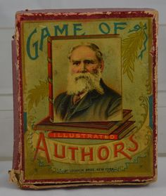 Game of Illustrated Authors by McLoughlin Brothers