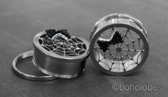 Spider Web Halloween Inspired Plugs