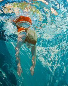 Dive Immerse LARGE FORMAT Limited Edition & by SamanthaFrench, $550.00