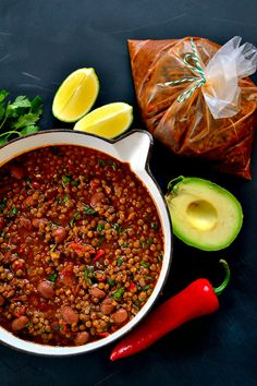 Recipe: Slow-Cooked Borlotti Bean Chilli (A Veganuary Recipe - Batch Cooking for the Freezer) - The Veg Space